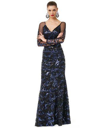 Vestido-Blue-Paete