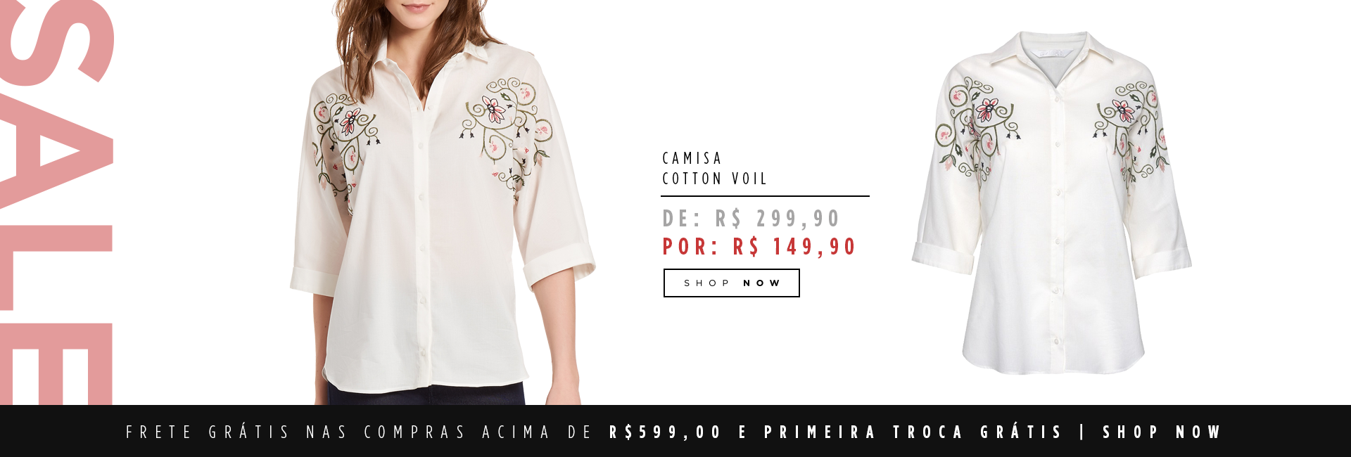 Camisa cotton voil