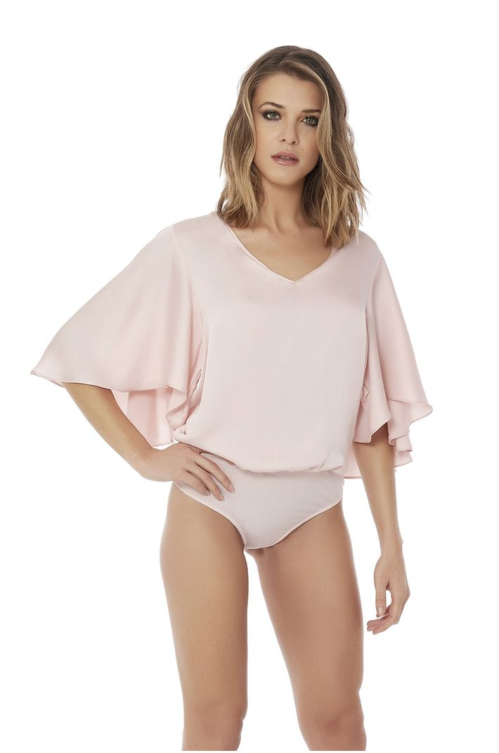 Top Body Satin Mg Ampla - M