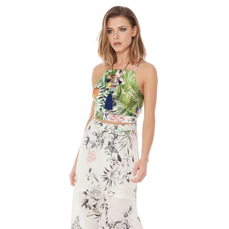 TOP CROPPED VISCO SOFT EXOTIC
