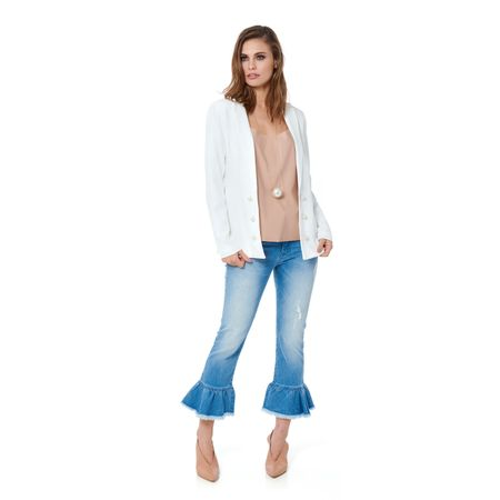 CALÇA JEANS CROPPED FLARE BABAD