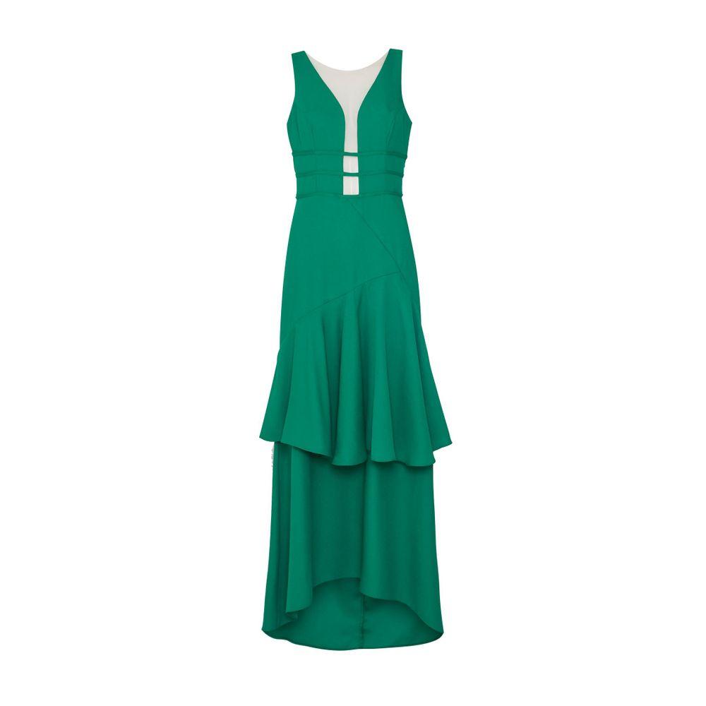 Vestido longo verde tvz