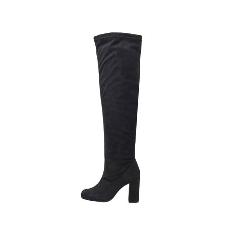 OVER THE KNEE SUEDE PRETO