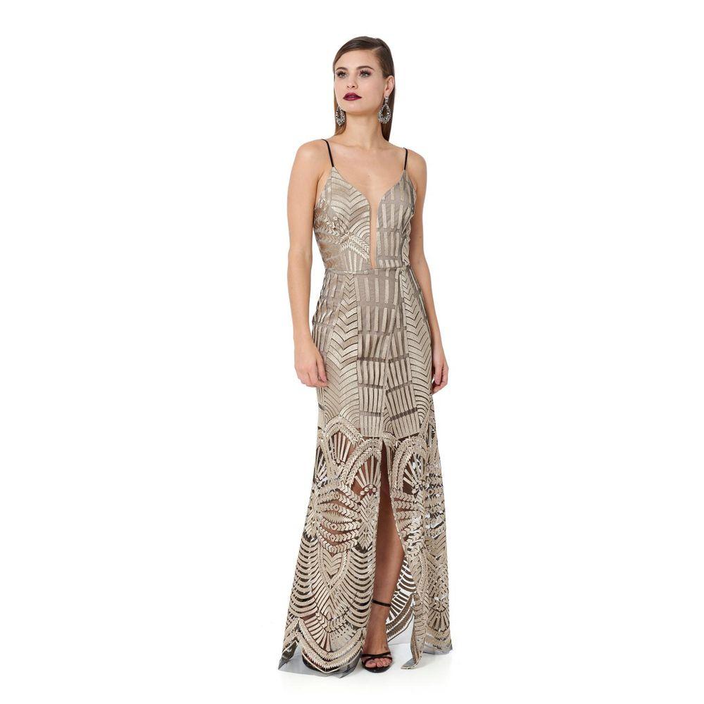 3e8c36c54 Vestido Longo Gold Embroidery - TVZ Loja Online Oficial - TVZ
