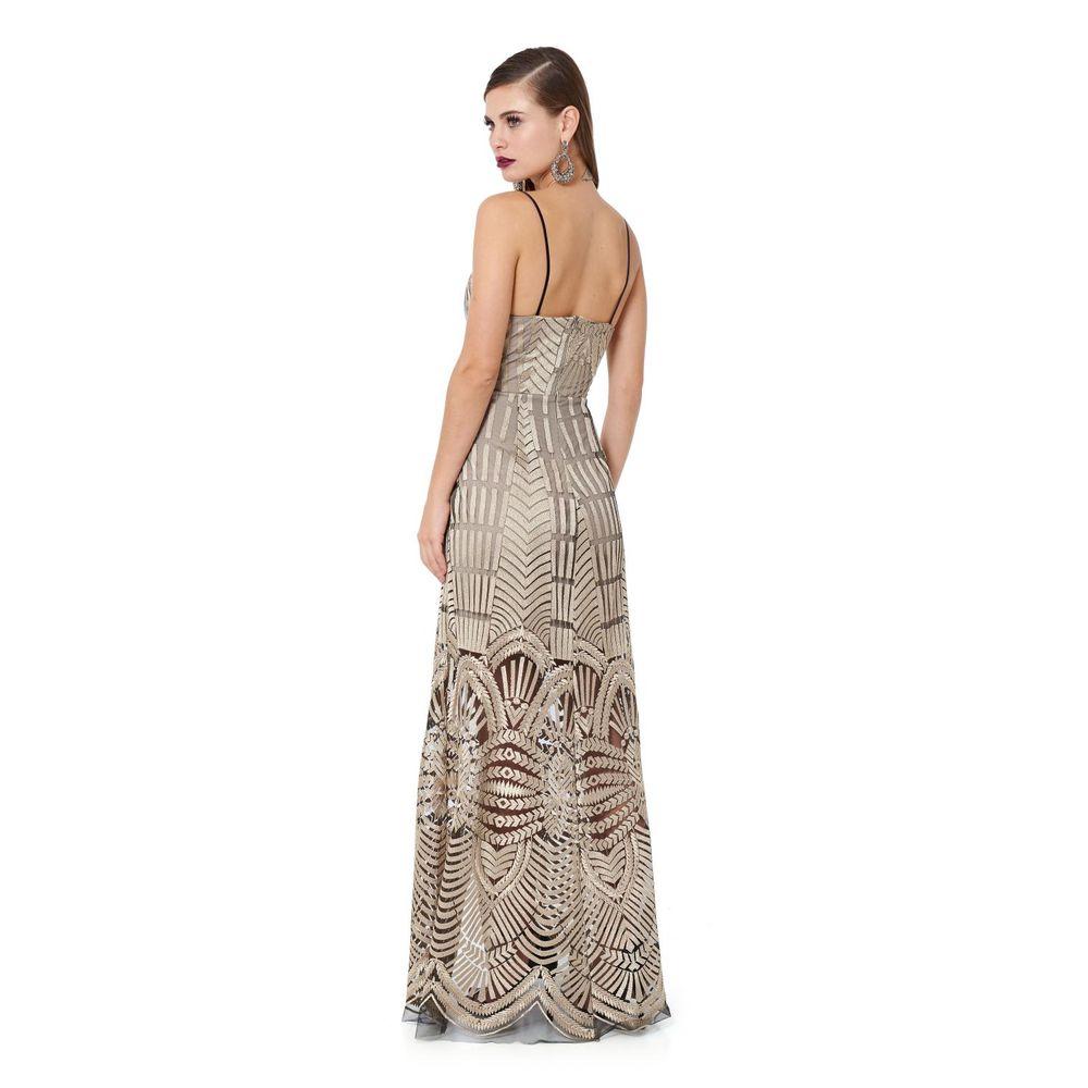 271a16e1c Vestido Longo Gold Embroidery - TVZ Loja Online Oficial - TVZ