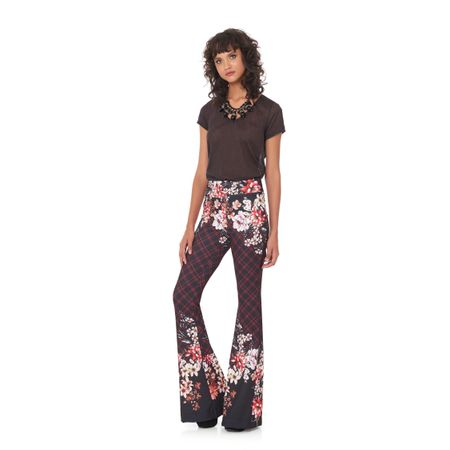 CALÇA FLARE SMOOTH CREPE LOVELY ESTAMPADO