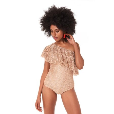 TOP BODY OMBRO SO BEIGE LACE