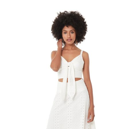 TOP CROPPED COTTON LAISE