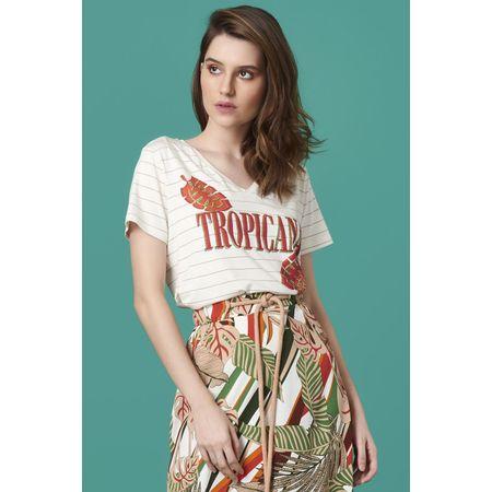 T-SHIRT LISTRAS TROPICAL