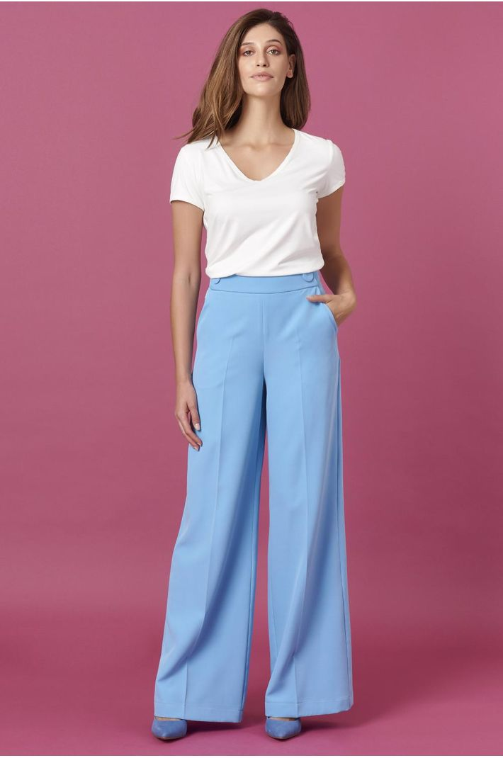 Calça Pantalona Alfaiataria Azul - 36