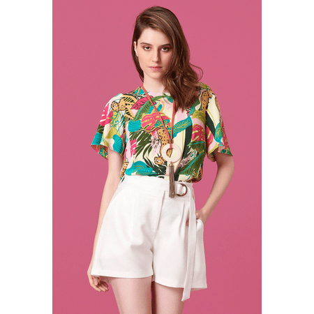 BLUSA ESTAMPA SAFARI TROPICAL