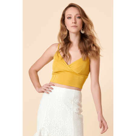 CROPPED REGATA BARRA AMARELA